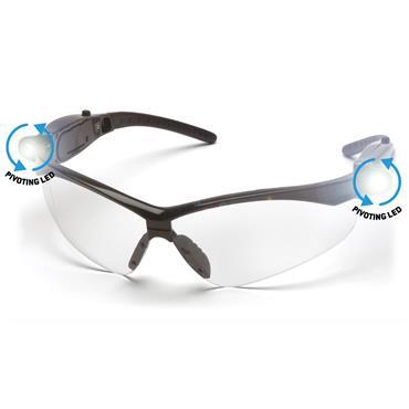 Pyramex PMXTREME LED Anti Fog Safety Glasses, Clear