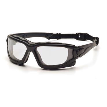 Pyramex I-Force Safety Glasses, Clear Dual H2X Anti-Fog Lens