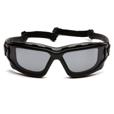 Pyramex I-Force Slim Safety Glasses, Grey Dual H2X Anti-Fog Lens