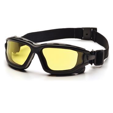 Pyramex I-Force Slim Safety Glasses, Amber Dual H2X Anti-Fog Lens