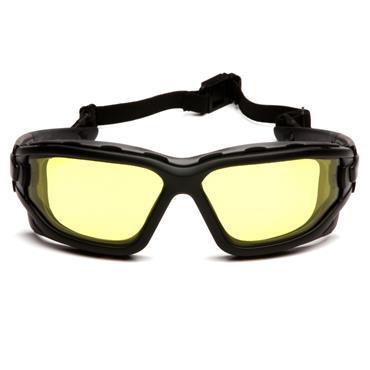 Pyramex I-Force Safety Glasses, Amber Dual H2X Anti-Fog Lens