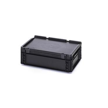 Auer Packaging ESD Euro Containers with Hinged Lid