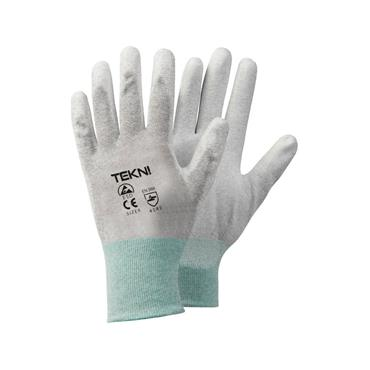 ESD Nylon Knitted Glove Pu Palm Coated