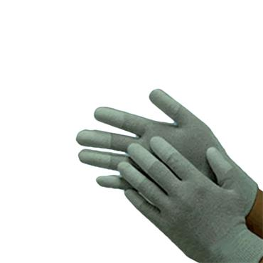ESD Nylon Knitted Glove PU Finger Tip Coated