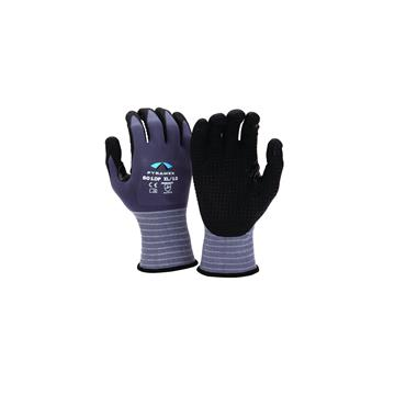 Pyramex GL601DP Micro-Foam Nitrile Gloves with Dotted Palms