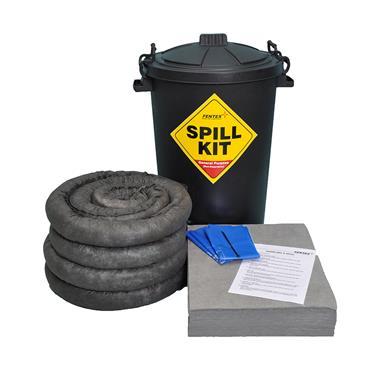 Spill Kit, Black ECO Drum 80L