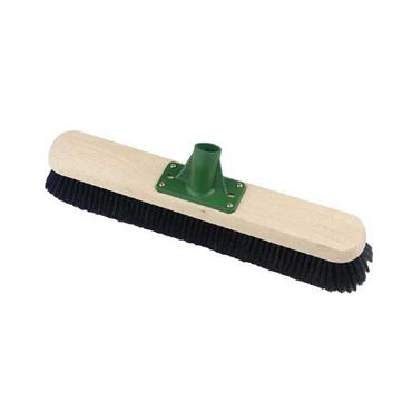 Very Soft Pure Bristle Platform Broom with Handle