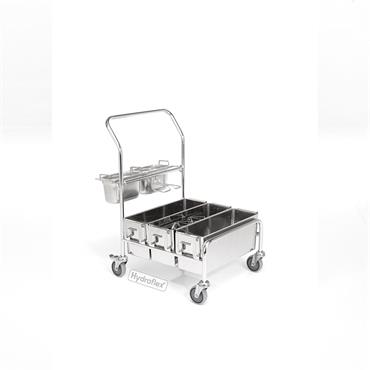 Hydroflex ERGO 1.0 - Stainless Steel Mop Wetting Systems (includes mop discarding system)