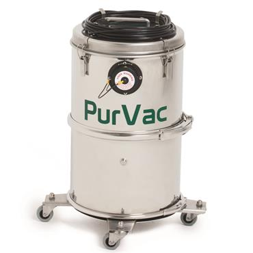 Hydroflex Hydroflex PurVac KT15, Compact Dry Cleanroom Vacuum Cleaner  completely stainless steel