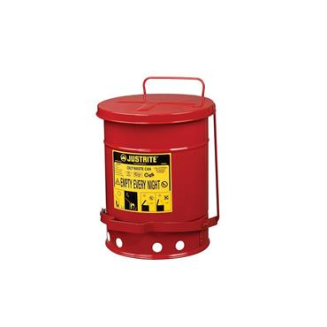 Justrite Oily Waste Cans - Red