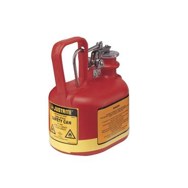 Justrite Type I Poly Safety Cans - Red