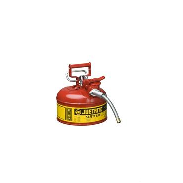 Justrite Type II AccuFlow Safety Cans - Red