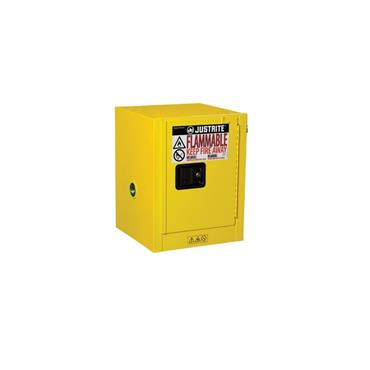 Justrite Sure-Grip EX Countertop Safety Cabinets - Yellow