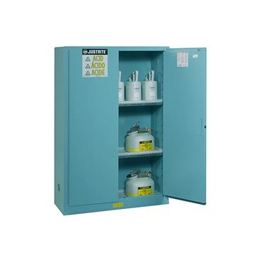 Justrite Sure-Grip EX Safety Cabinets for Corrosives - Light Blue