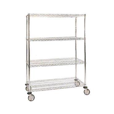Stainless Steel 4-Shelf Wire Cart