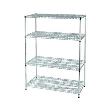 Stainless Steel 4-Shelf Wire Rack