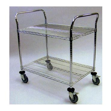ESD 2 Shelf Utility Cart, Chrome