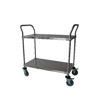 Stainless Steel Utility 2 Shelf Solid Cart