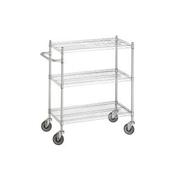 "Stainless Steel US Type Cart 3 Shelf 39"" High"