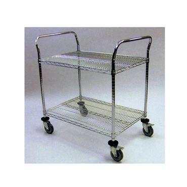 Stainless Steel Utility 2 Shelf Wire Cart