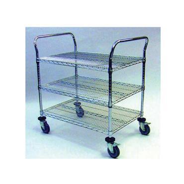 Stainless Steel Utility 3 Shelf Wire Cart