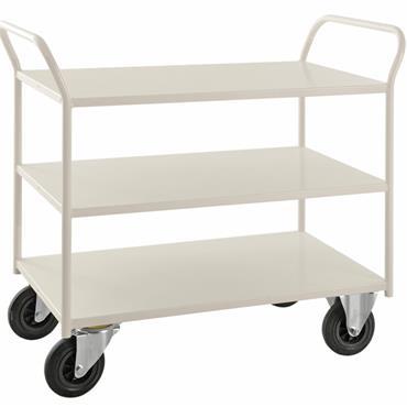 Kongamek 3 Shelf All Welded Trolley Heavy, with Brakes