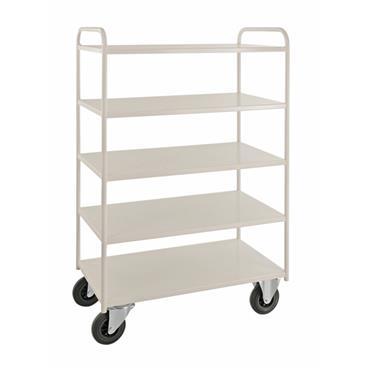 Kongamek 5 Shelf All Welded Trolley Heavy, with Brakes
