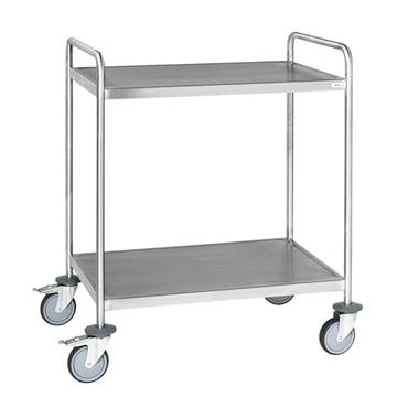 Kongamek Welded Stainless Steel Trolley, Class C3, 2 Shelves