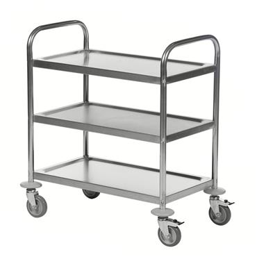 Kongamek Stainless 18/0 Class C2 Trolley, 3 Shelves