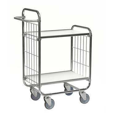 Kongamek CL Trolley with Central Locking, 2 Shelves
