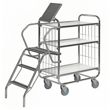 Kongamek CL Trolley with Central Locking, 3 Shelves
