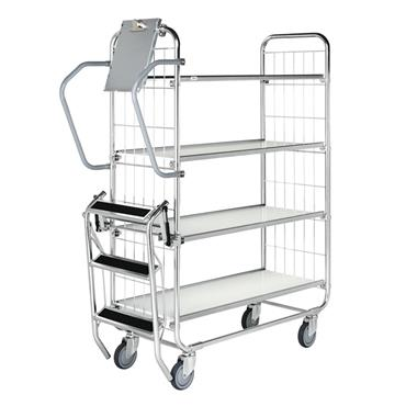 Kongamek CL Trolley with Central Locking, 4 Shelves