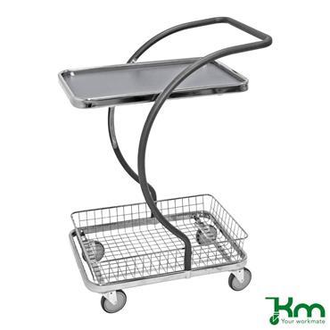 Kongamek, KM96201 C-Line Trolley, 1 Shelve + 1 Basket