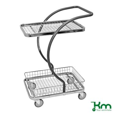 Kongamek, KM96203 C-Line Trolley, 1  Basket +  1 wire shelf