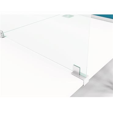 Frameless Clear Acrylic Add-On Screens for Desks & Counters
