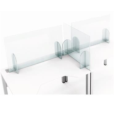 Freestanding Frameless Clear Acrylic Screens for Desks & Counters