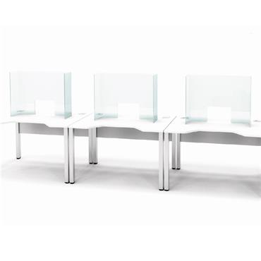 Frameless Clear Acrylic Guard w/ Window for Desks & Counters