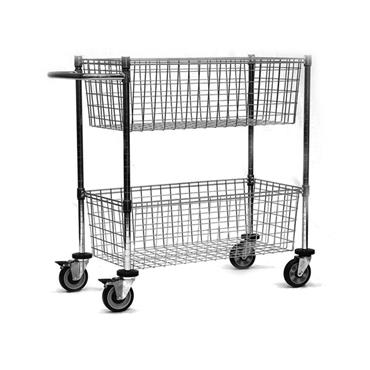 Chrome Wire Mail Cart