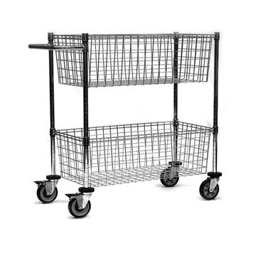 Chrome Wire ESD Mail Cart