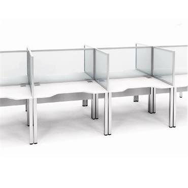 Tall Framed Clear Acrylic Desk Mounted Screens