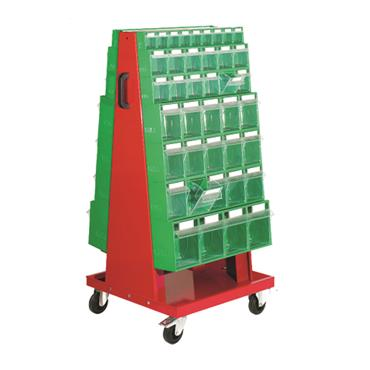 2 Sided Mobile Storage Trolley