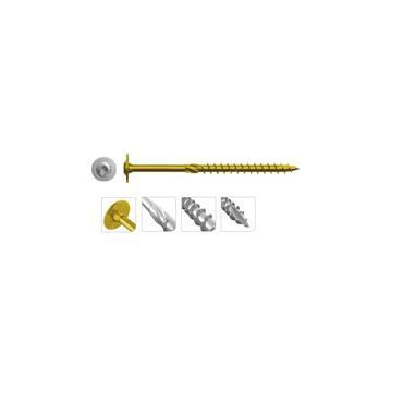 Rawlplug Washer Head Construction Wood Screws, Zinc plated