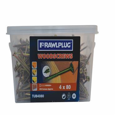 Rawlplug Stainless Steel Wood Screws  Box of 100