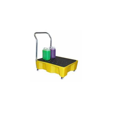 General Purpose Spill Tray w/ Grid, Castors & Handle
