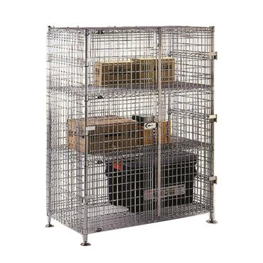 """Chrome Wire Security Cage with 2-Intermediate Shelves 62"""" High"""