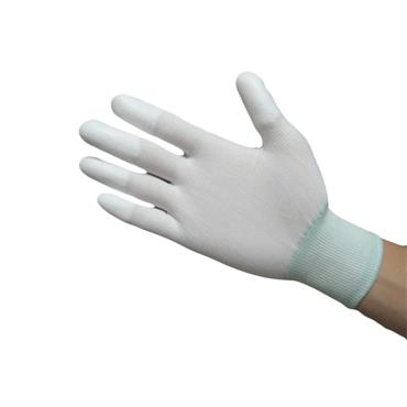 ESD Nylon Grey Glove PU Finger Coated