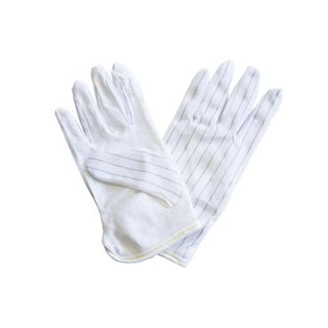 ESD Gloves Polyester Woven with Dotted Palm