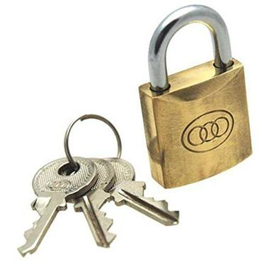Tri Circle Solid Brass Padlock