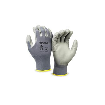 ESD Nylon Grey Glove PU Palm Coated