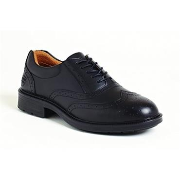 City Knights Black Brogue Executive Safety Shoe